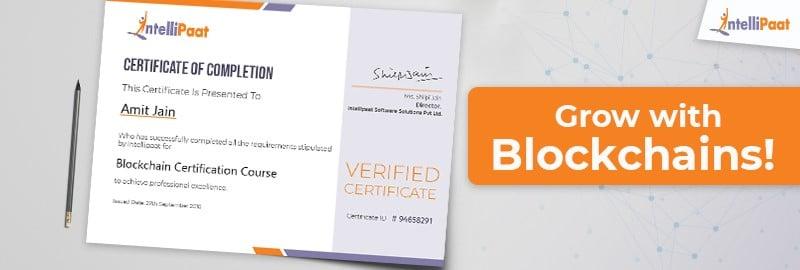 Blockchain Certification — Grow with Blockchain