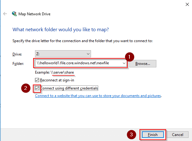 Azure storage file map network device-Azure Storage-Intellipaat
