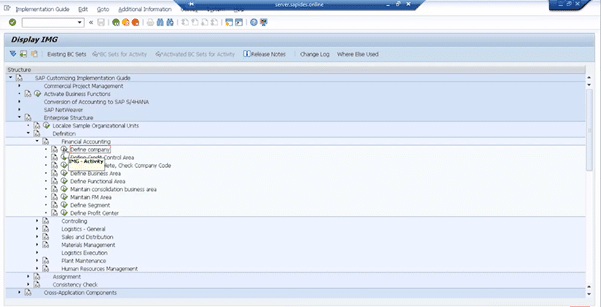 Demo on Creating New Company & Assigning a Company Code to it step 2