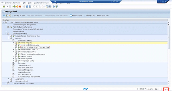 Demo on Creating New Company & Assigning a Company Code to it step 4