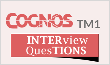 cognos TM1 Interview Questions
