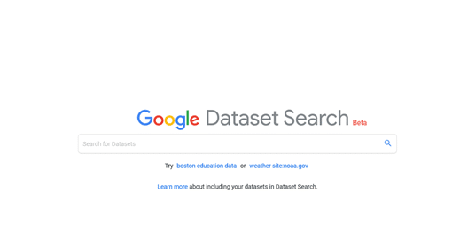 Google's Datasets Search Engine