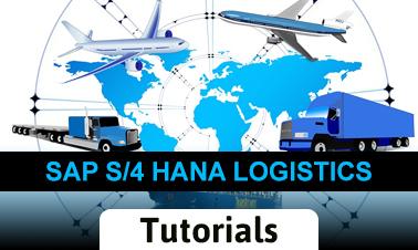 SAP HANA Logistics Tutorial