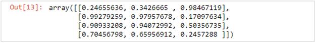 NumPy array with random numbers