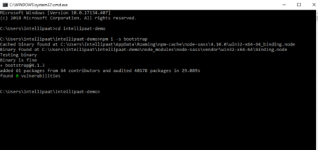 Installing Bootstrap