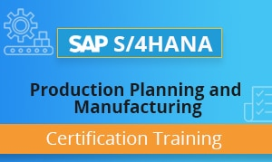 SAP S4HANA Production Planning and Manufacturing Certification Training