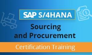 SAP S4HANA Sourcing and Procurement Certification Training