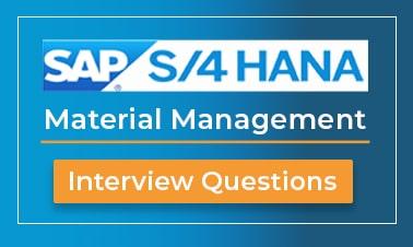 sap material management interview questions