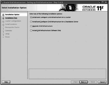 oracle installation of grid Infrastructure components